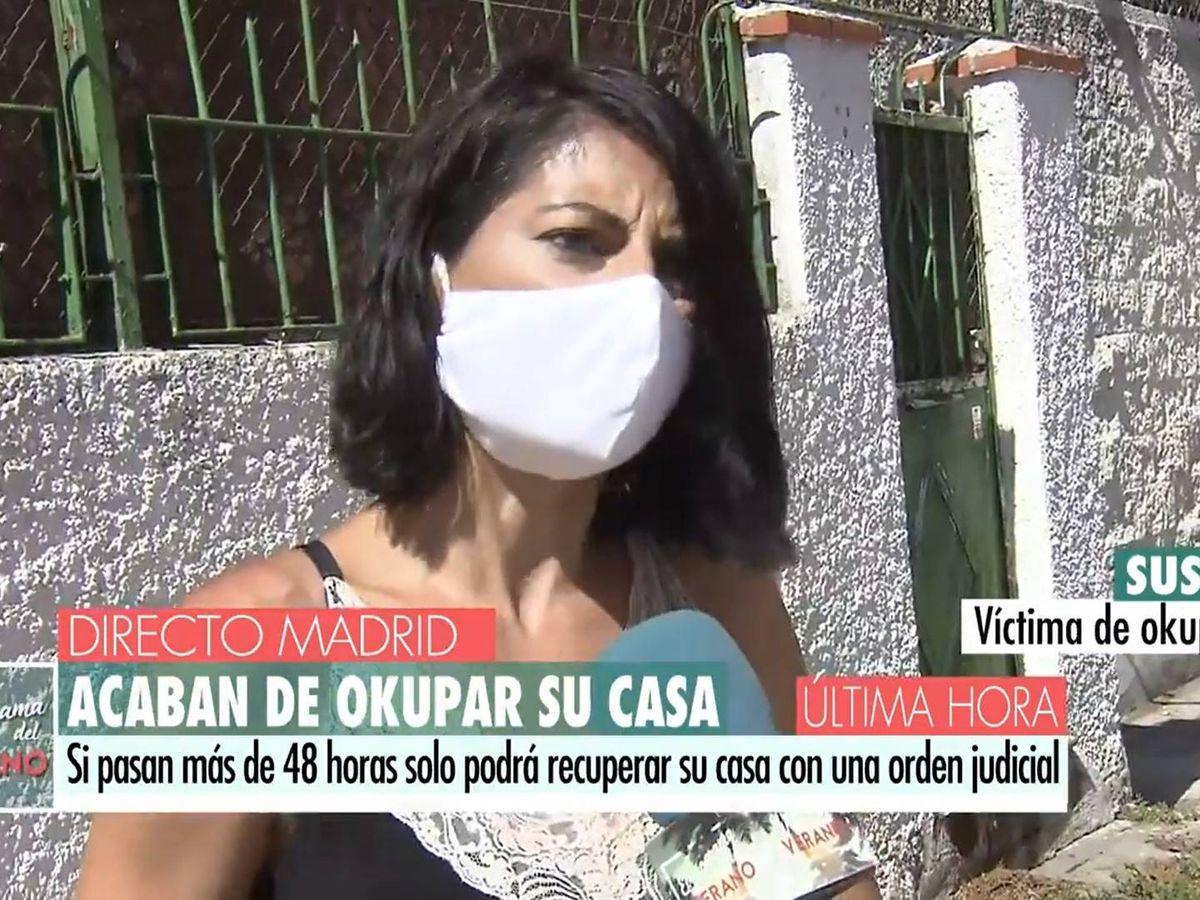 Foto: Susana Ramos, periodista de T5, víctima de okupación. (Mediaset)