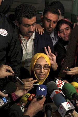 """Haidar ya está en El Aaiún: """"Mi regreso es una victoria para la causa saharaui"""""""