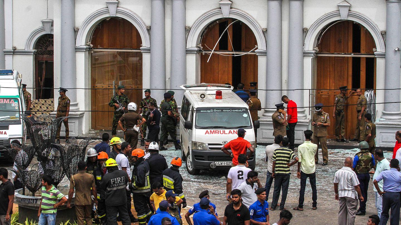 Una imagen de los atentados en Sri Lanka. (Getty)