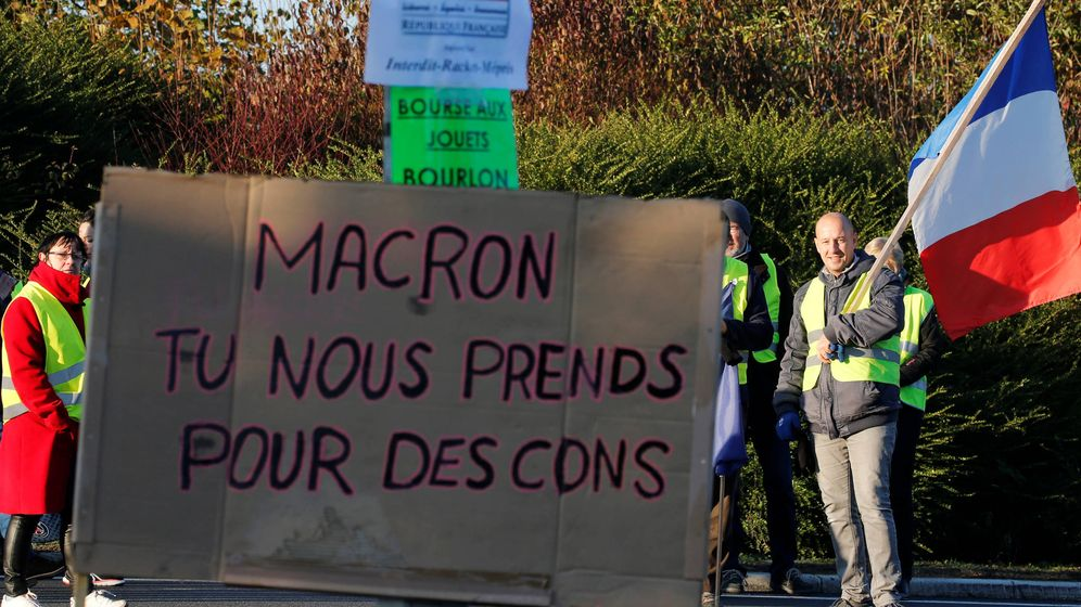 Foto: Protestas contra Macron en Francia. (EFE)
