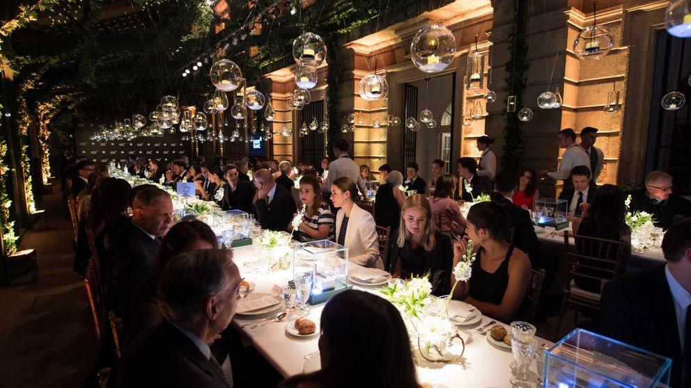 Un menú discreto de tres platos para el banquete nupcial de Sofía y Fernando