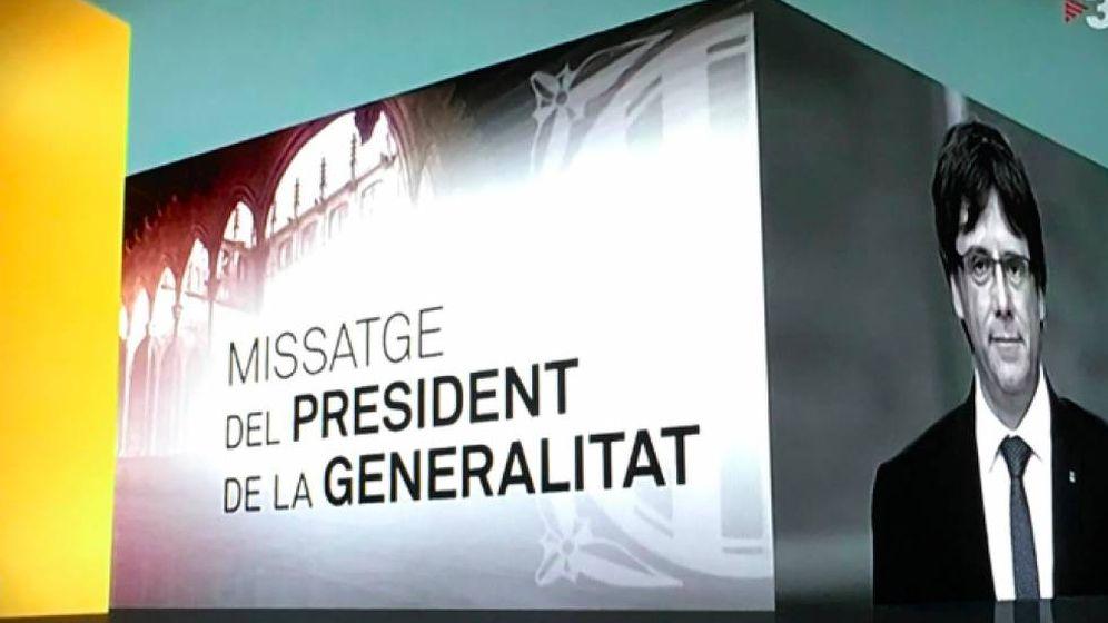 Foto: Imagen de la publicidad de TV3 para los discursos de Puigdemont.