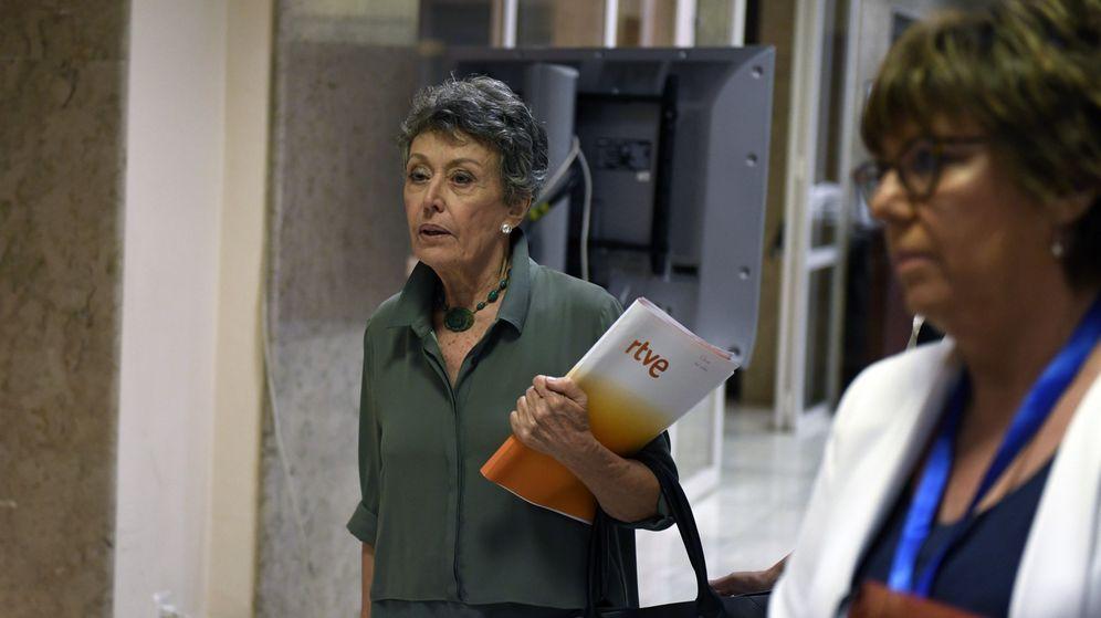 Foto: La administradora provisional única de la corporación RTVE, Rosa María Mateo. (EFE)