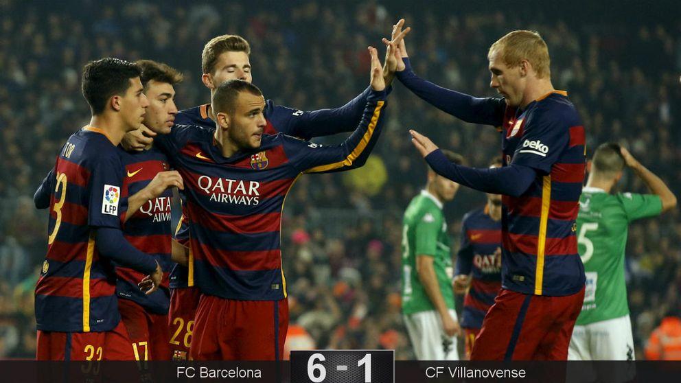 El Barcelona usa la Copa como terapia para Sandro y Munir
