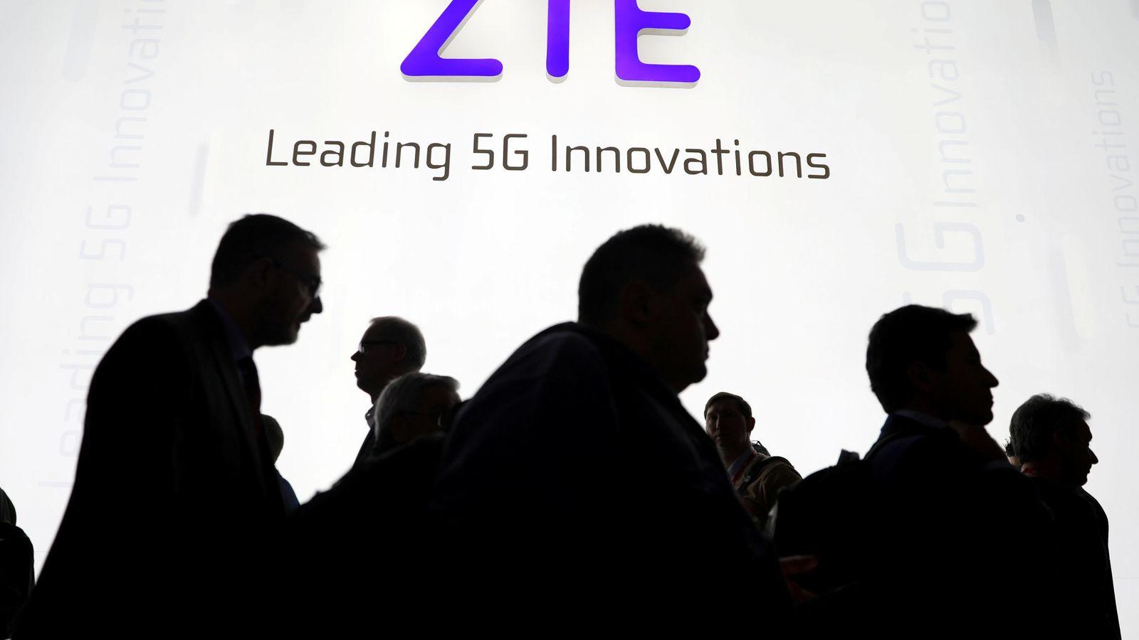 Foto: Logotipo de la tecnológica china ZTE