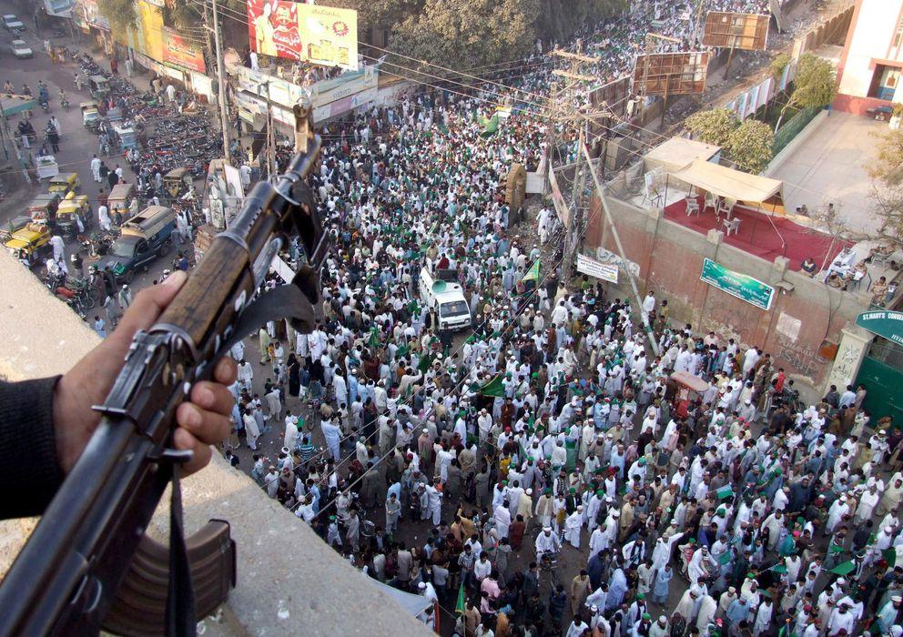 Foto: Celebración del Profeta en Hyderabad, en Pakistán (EFE)