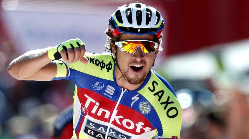 Foto: Peter Sagan pudo celebrar un triunfo después de muchos 'casis' (EFE).