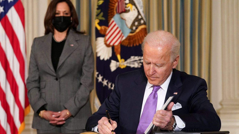 Kamala Harris y Joe Biden. (Reuters)