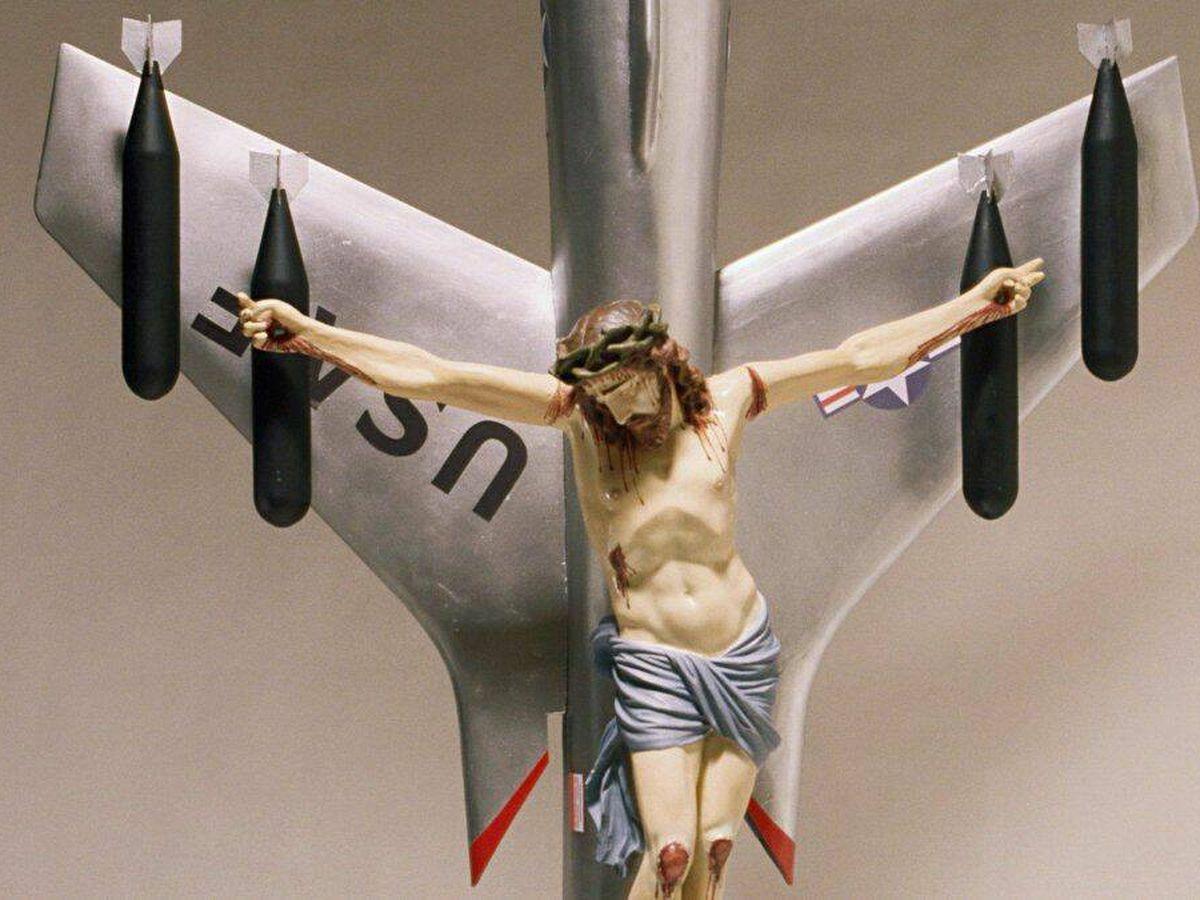 Foto: 'La civilización occidental y cristiana', de León Ferrari. (Biennal Venecia)