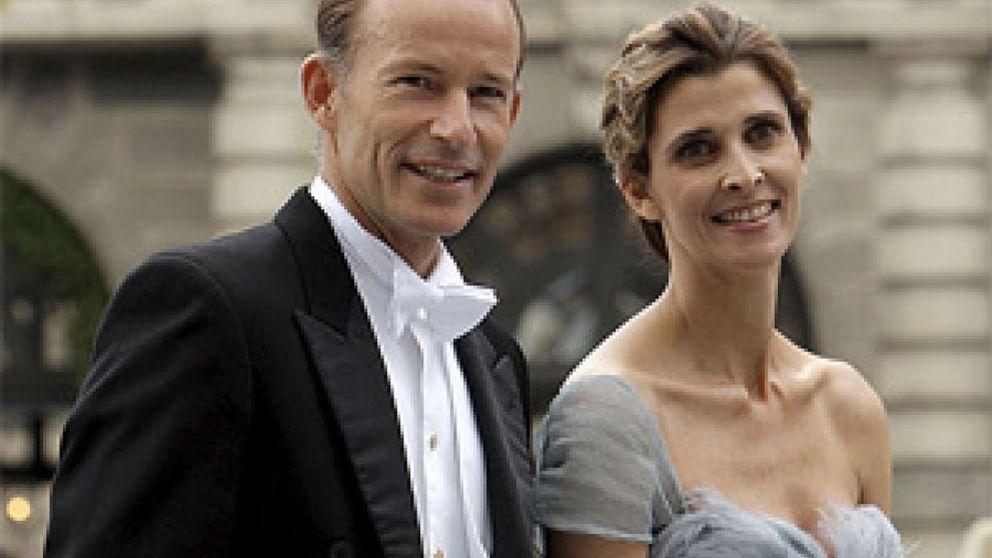 Rosario Nadal y Kyril de Bulgaria, juntos en la boda de Victoria de Suecia