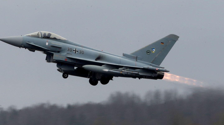Un Eurofighter de la fuerza aérea alemana. (Reuters)