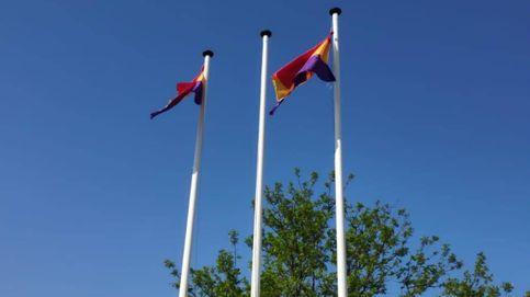 La Guardia Civil investiga las banderas republicanas izadas en un instituto de Rivas