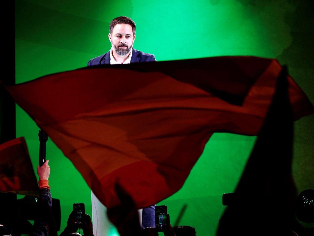 Foto: Abascal, durante el cierre de campaña, en Barcelona.