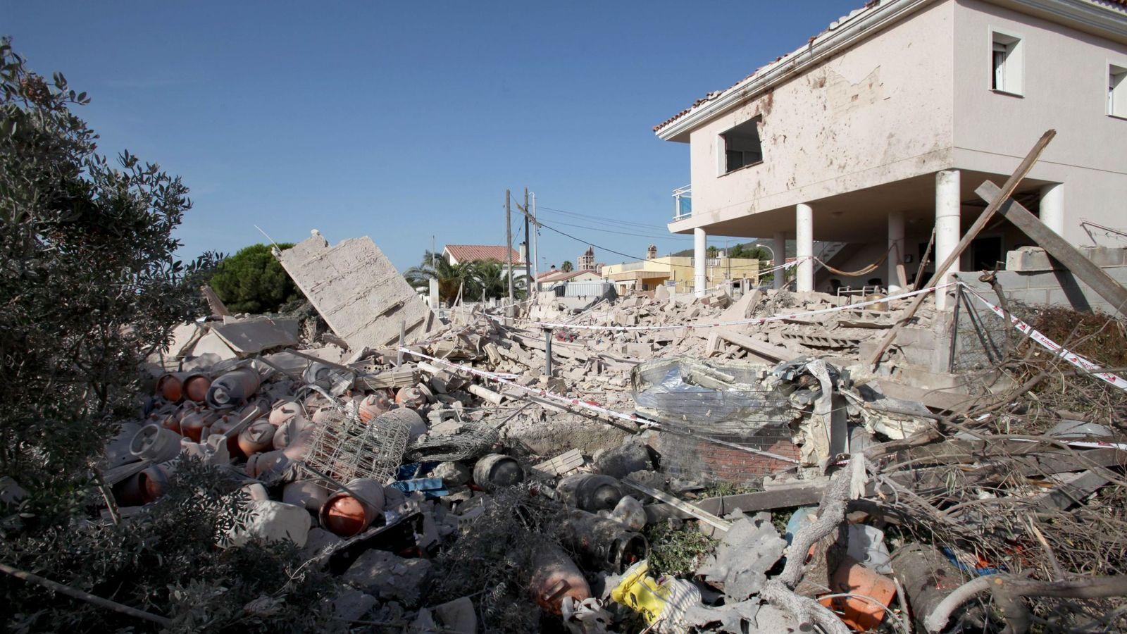 Foto: La casa de Alcanar, tras la explosión. (EFE)