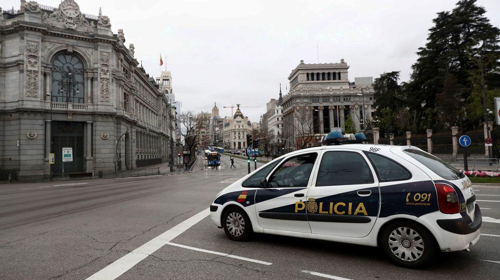 Foto: Sede del Banco de España durante el estado de alarma. (EFE)