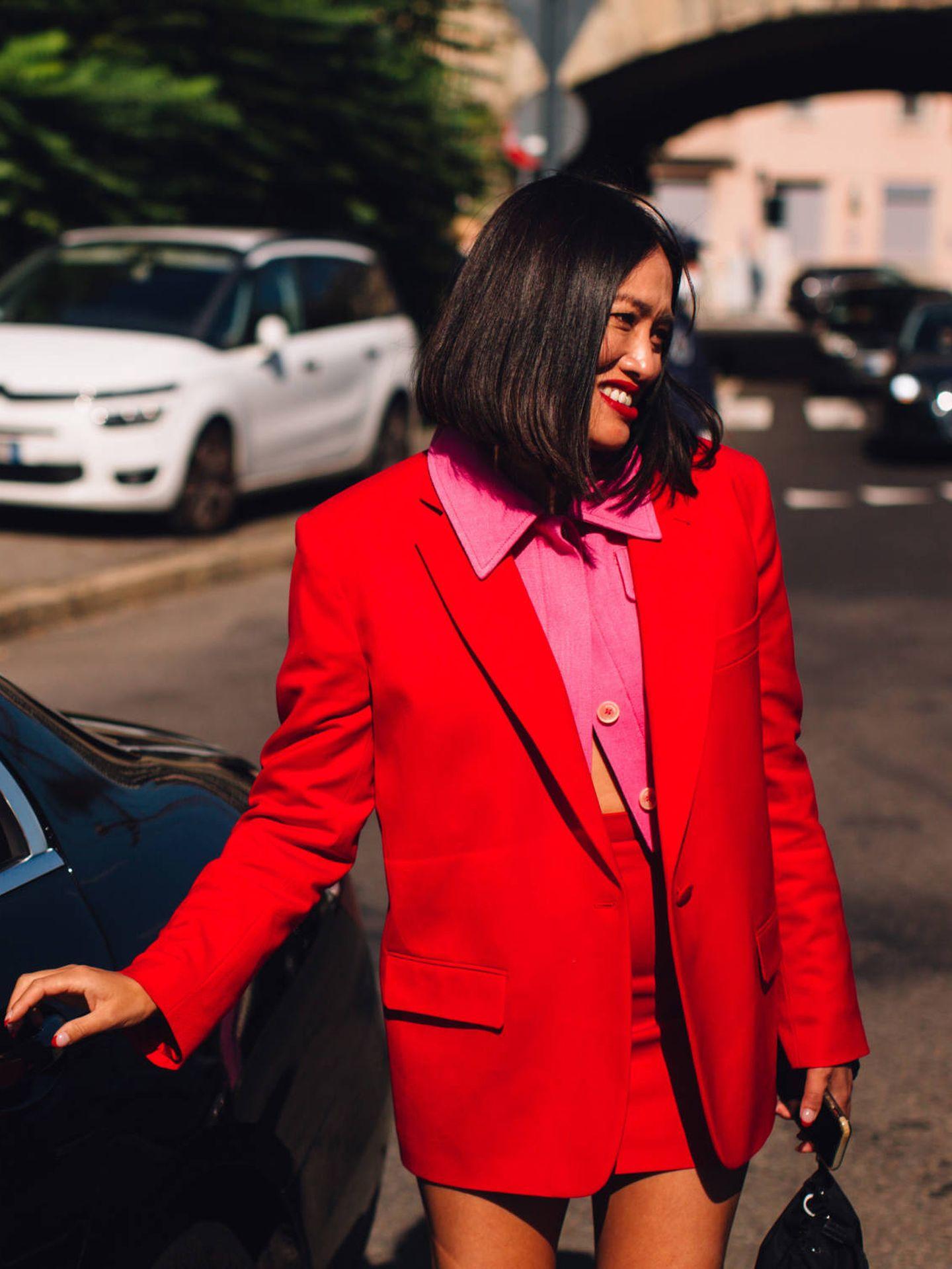 La insider Tiffany Hsu, en Milán. (Imaxtree)