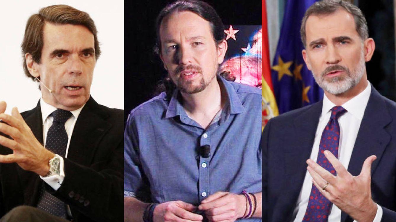 Felipe VI y Aznar serán para Pablo Iglesias los personajes clave de la política en 2019