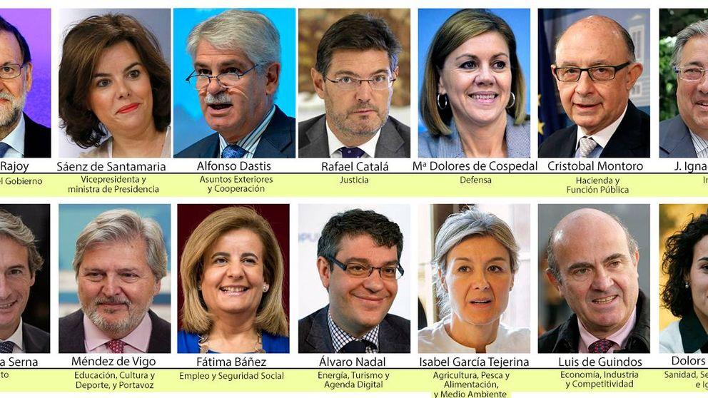 Todos los ministros del nuevo Gobierno de Mariano Rajoy