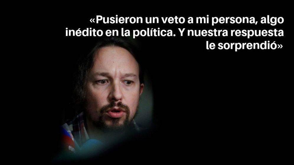 Foto: Las frases de Pablo Iglesias durante el debate de investidura (EFE)