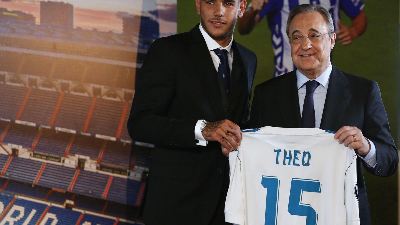 Theo, el día de su presentación con el Real Madrid. (EFE)