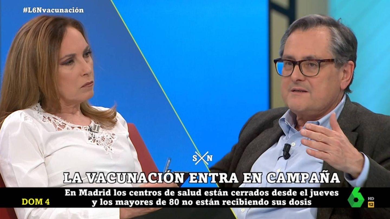 Rubio y Marhuenda discutiendo por Ayuso. (La Sexta).
