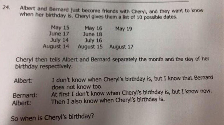 ¿Cuándo es el cumpleaños de Cheryl?