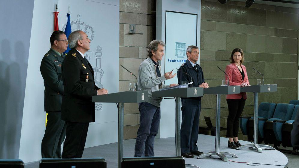 Foto: Rueda de prensa porterior a la reunión del Comité de Gestión Técnica del Coronavirus. (EFE)