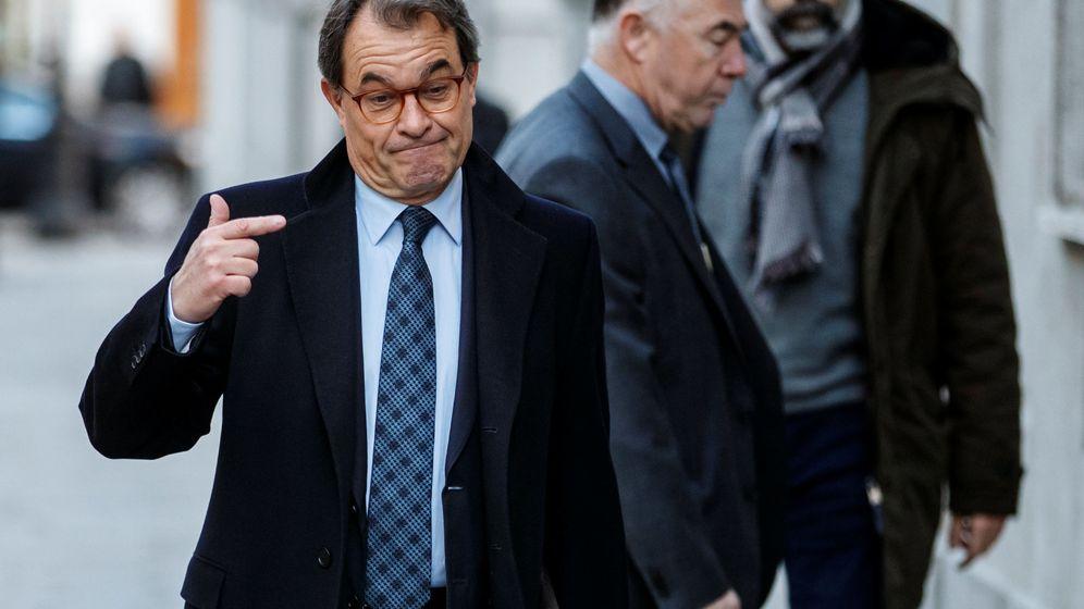Foto: Artur Mas a su llegada al TS. (EFE)