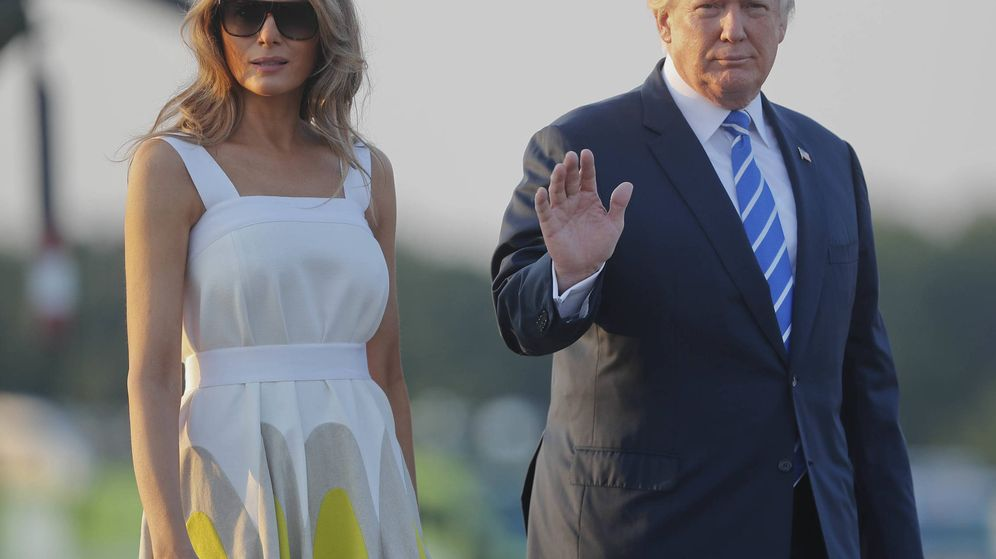 Foto: Melania y Donald Trump regresan a la Casa Blanca.