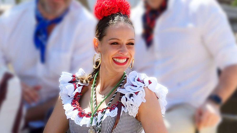 Foto:  Eva González en El Rocío. (Cordon Press)