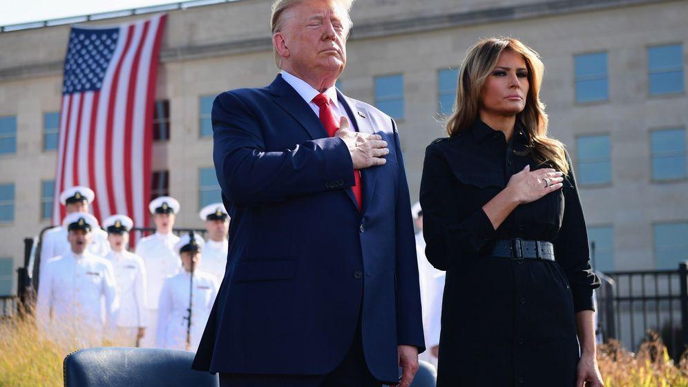Foto: Donald y Melania Trump, en uno de los actos en recuerdo del 11-S. (EFE)