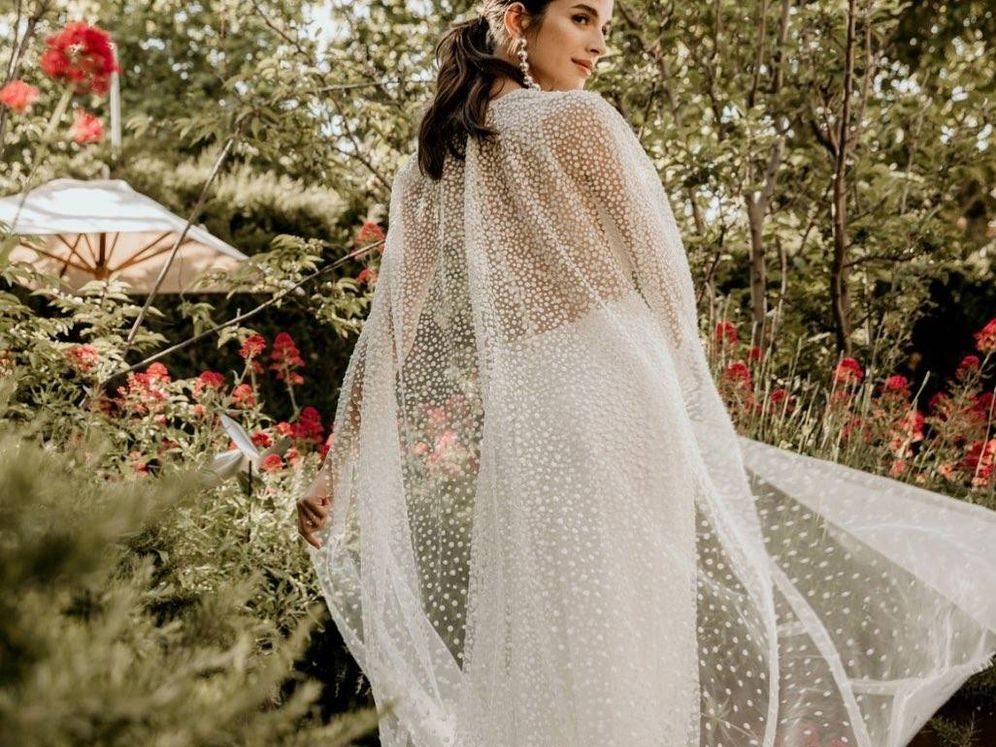 Foto: La modelo Sandra Gago, en una sesión nupcial. (Instagram @jesuspeiro)