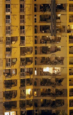 La explosión destroza fachadas y deja viviendas al aire