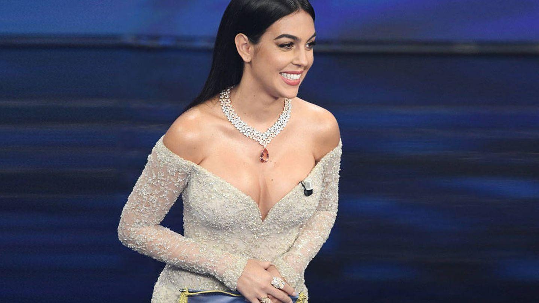 Georgina Rodríguez en Sanremo. (Getty)