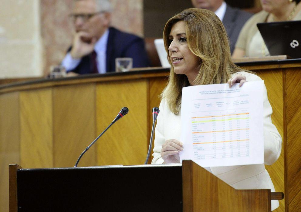 Foto: La presidenta de la Junta, Susana Díaz, durante su intervención en el debate (EFE)