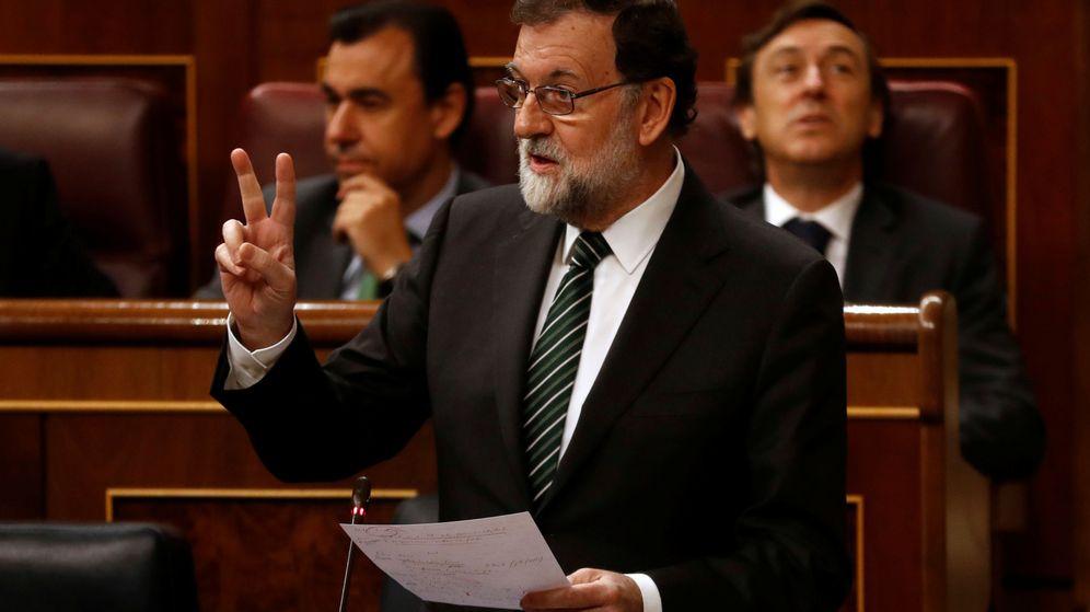 Foto: Mariano Rajoy, durante la sesión del Congreso de este miércoles. (Reuters)