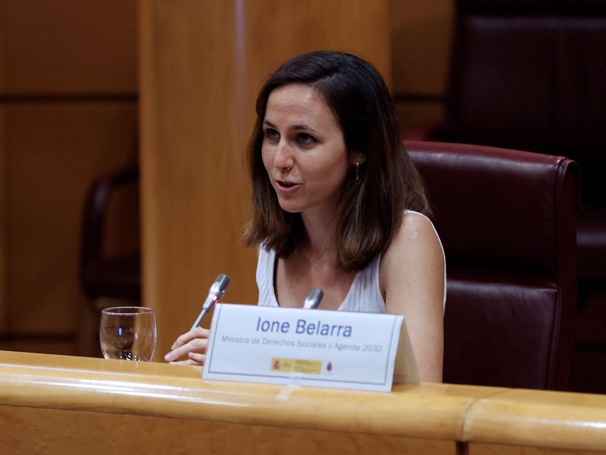 Foto: La ministra de Derechos Sociales y Agenda 2030, Ione Belarra. (EFE)