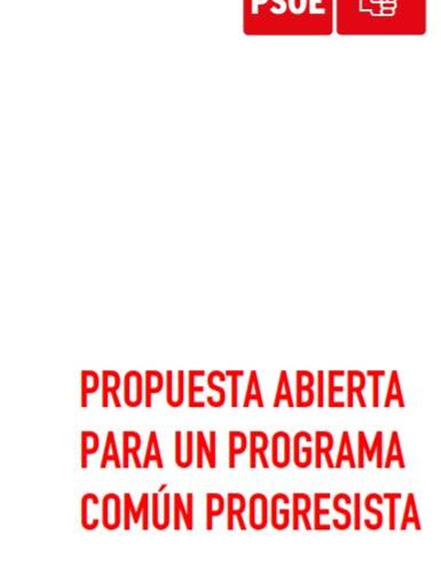 Consulte aquí en PDF el 'Programa común progresista' presentado por Pedro Sánchez este 3 de septiembre de 2019.