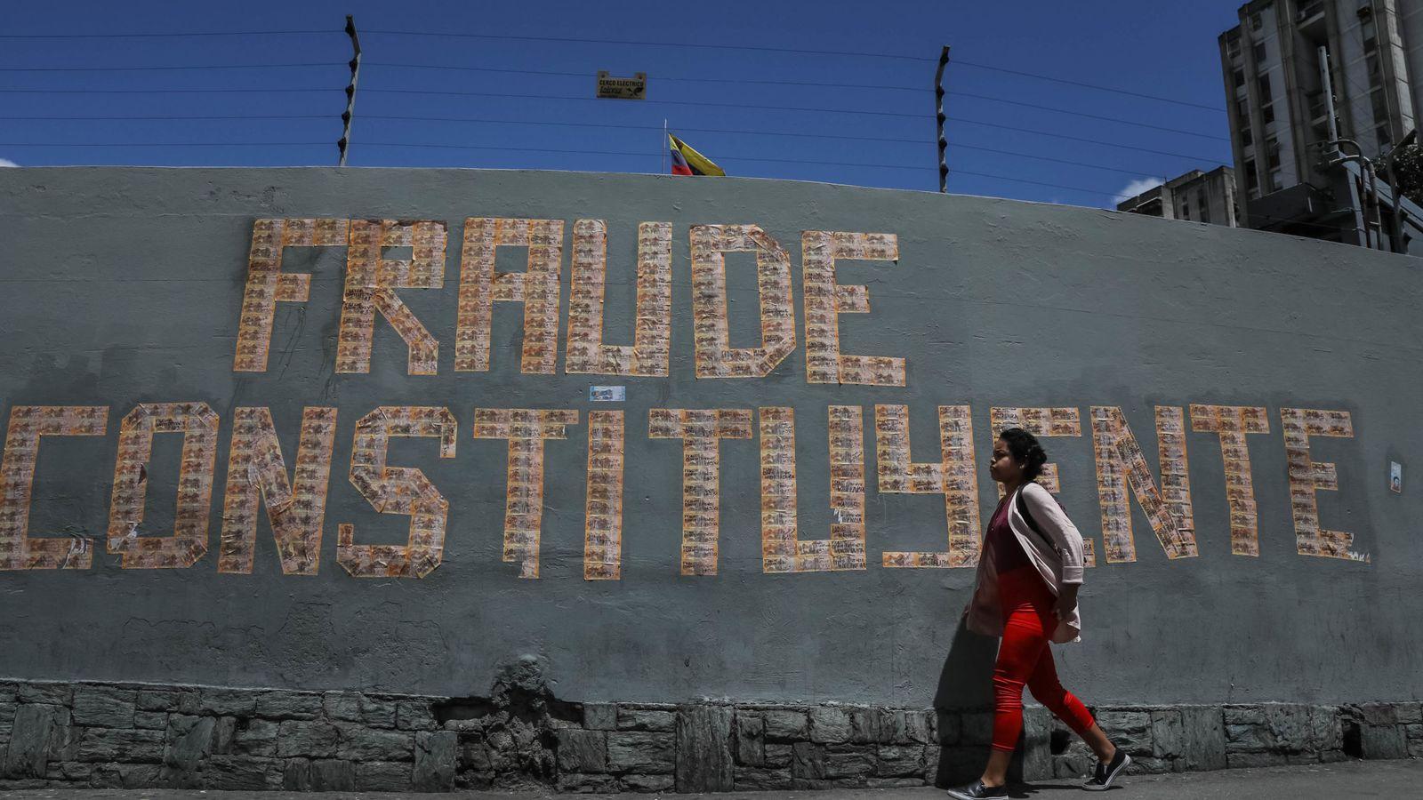 Foto: La tensión sube en Venezuela horas antes de una polémica elección. (EFE)