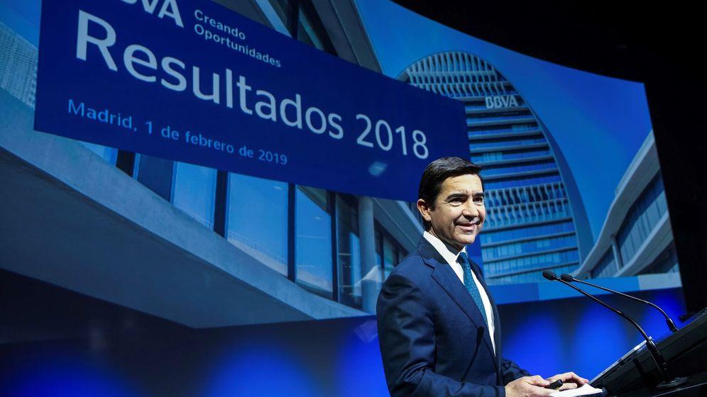 Foto: El presidente de BBVA, Carlos Torres, durante la rueda de prensa con motivo de la presentación de los resultados de 2018. (EFE)