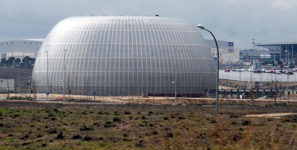Foto: El único edificio construido hoy en el Campus de la Justicia.