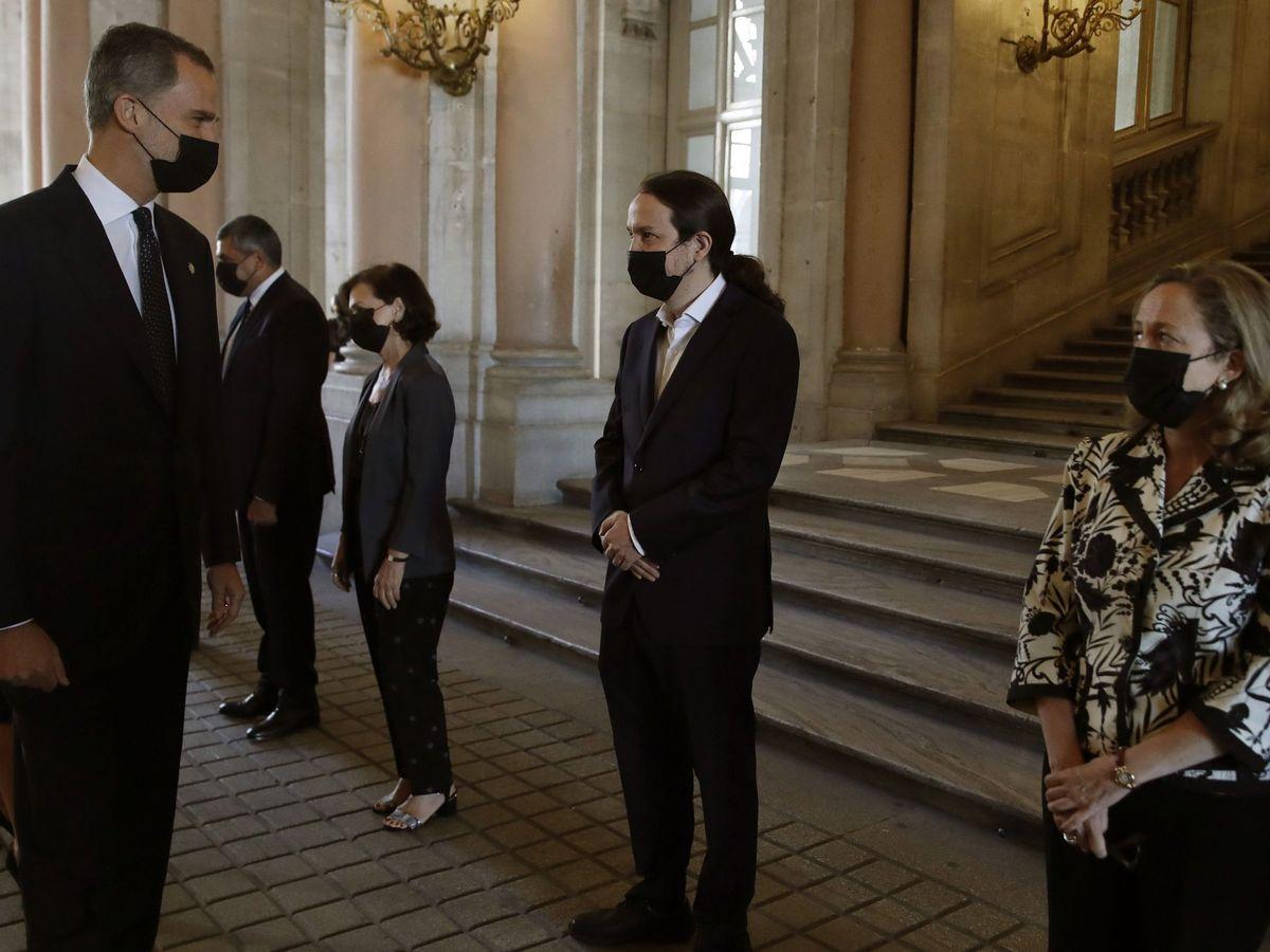 Foto: Homenaje de Estado a las víctimas del coronavirus.