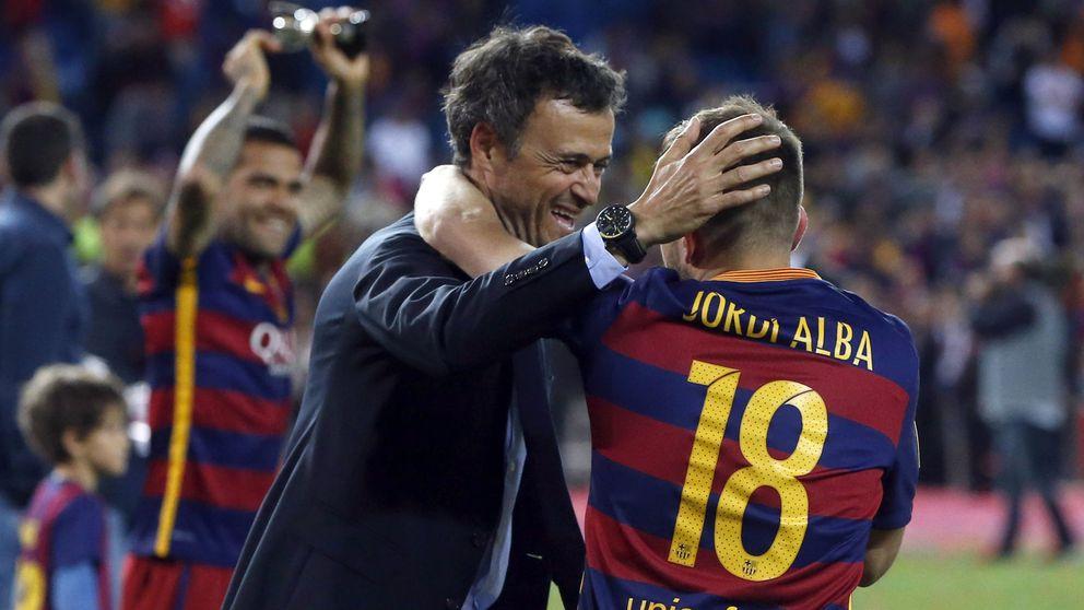Por qué Luis Enrique tiene más que perder que Jordi Alba