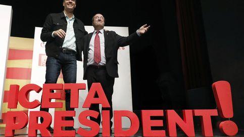 Sánchez apoya a Iceta en la financiación y ve ya espíritu de remontada