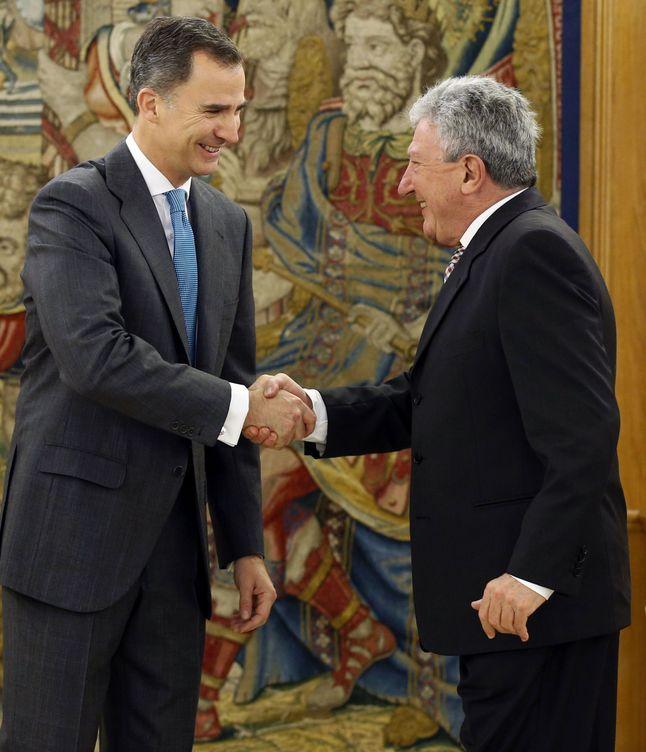 Felipe VI y Pedro Quevedo. (Efe)