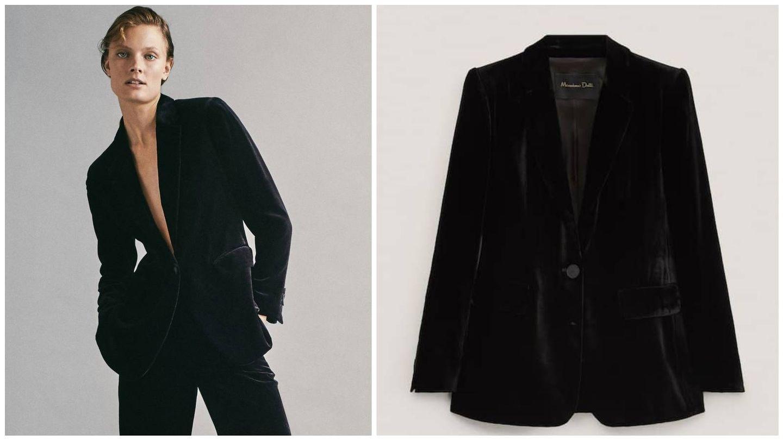 Americana negra de Massimo Dutti. (Cortesía)