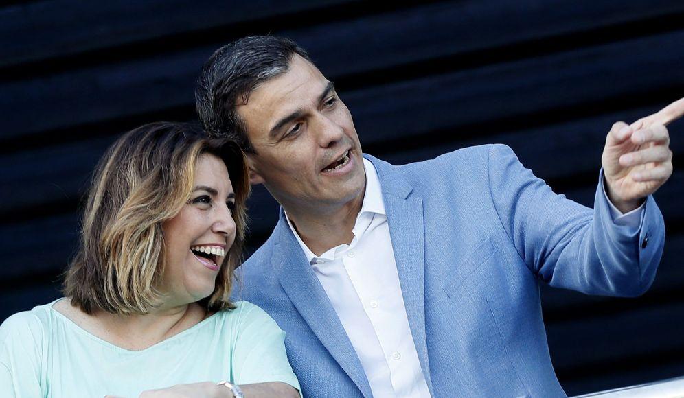 Foto: Susana Díaz junto a Pedro Sánchez. (EFE)
