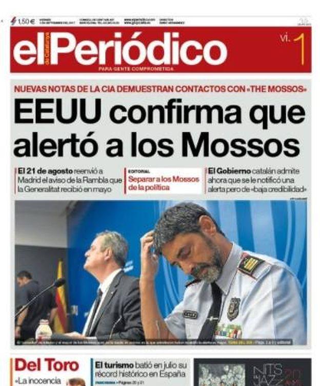 Foto: Portada de 'El Periódico de Catalunya'.