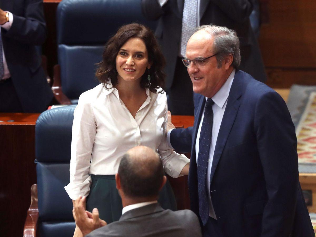 Foto: Díaz Ayuso y Ángel Gabilondo, dos de los candidatos al 4M. (EFE)