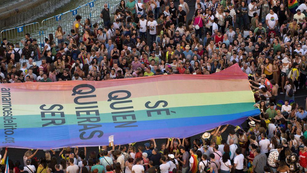 Foto: Vista de la manifestación del Orgullo 2019. (EFE)